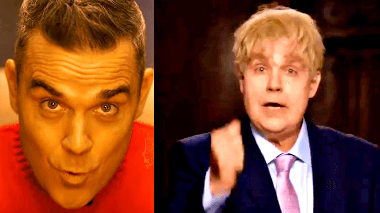 "Robbie Williams diventa Boris Johnson per ""Can't Stop Christmas"""