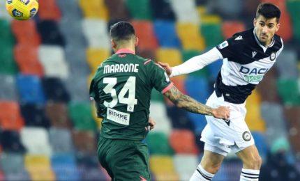 Udinese e Crotone si annullano nel primo match della 12ma