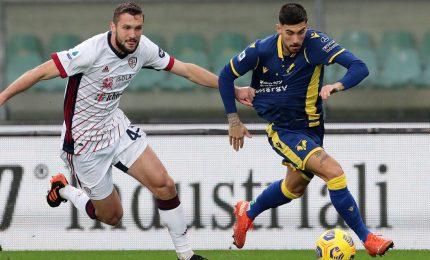 Verona-Cagliari 1-1, Marin risponde al vantaggio di Zaccagni