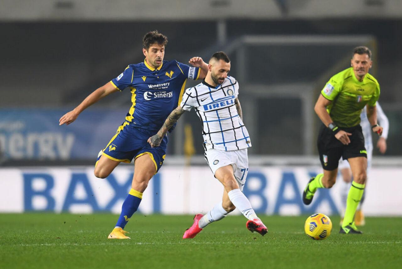 Verona-Inter 1-2, nerazzurri in vetta per pochi minuti