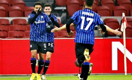 Ajax-Atalanta 0-1, bergamaschi agli ottavi di Champions
