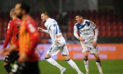 L'Atalanta travolge il Benevento ed ora è quarta: 1-4
