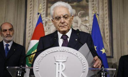 """Mattarella: """"Doveroso dare vita presto a un governo"""". Elezioni per ora escluse"""