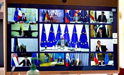 Videoconferenza leader Ue su situazione pandemia Covid-19