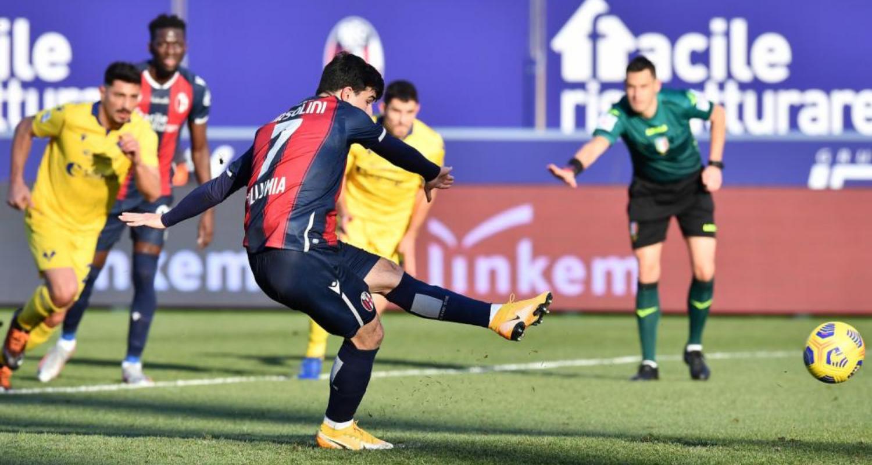 Bologna-Verona 1-0, decide Orsolini su rigore