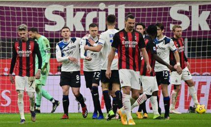Il Milan crolla in casa con l'Atalanta, a San Siro 0-3