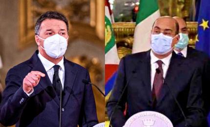 """Renzi: """"No incarico a Conte ora"""". Il """"volto scuro"""" di Zingaretti, alta tensione nel Pd"""