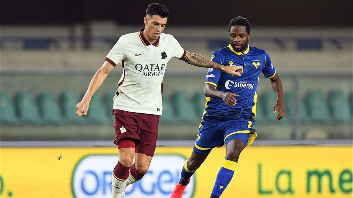 Roma-Verona 3-1, scacco matto in nove minuti