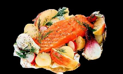 Il salmone al cartoccio, ideale per pranzo o cena