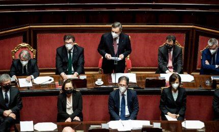 """L'esordio di Draghi in parlamento: """"L'unità non è un'opzione, l'unità è un dovere"""""""
