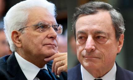 """Mattarella lancia appello ai partiti e """"chiama"""" Draghi"""