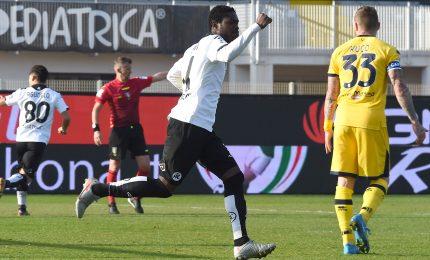 Spezia-Parma 2-2, liguri pari in rimonta con doppietta di Gyasi