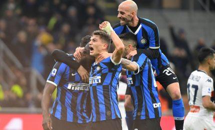 L'Inter prova la fuga: 3-0 al Genoa, vincono Cagliari e Udinese