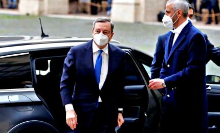 """L'8 marzo esordio """"pubblico"""" di Draghi, poi in luoghi-simbolo Covid"""