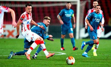 Stella Rossa-Milan 2-2, rossoneri beffati al 93'. Vince la Roma