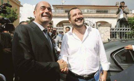 """Salvini incontro con Zingaretti: """"Ora deporre ascia di guerra"""""""