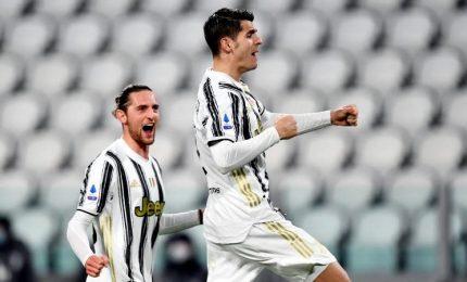 Juve-Lazio 3-1, Rabiot e doppio Morata in rimonta