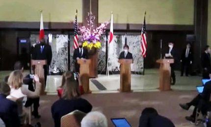 """Patto Usa-Giappone """"contro aggressioni e coercizioni della Cina"""""""