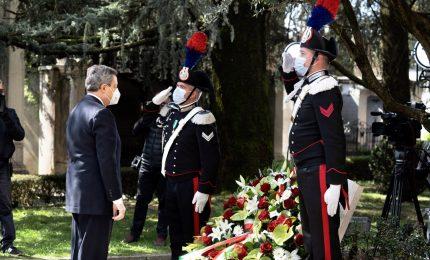 Covid-19, l'omaggio di Draghi a Bergamo: Stato c'è e ci sarà