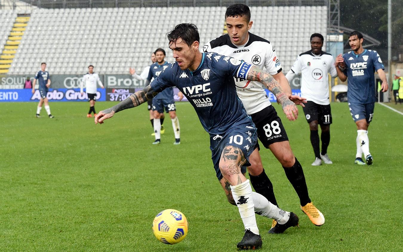 Spezia-Benevento 1-1, A Gaich risponde Verde