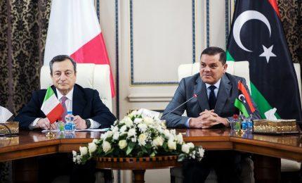"""Draghi in Libia: """"Cessate il fuoco prerequisito essenziale"""""""