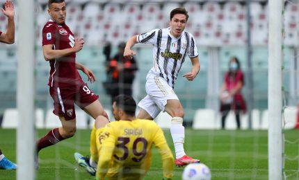 Juve-Torino 2-2, ai granata non basta la doppietta di Sanabria