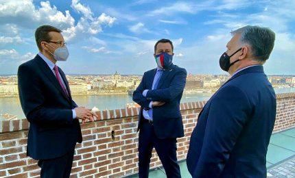 Salvini lancia suo 'Rinascimento europeo' con Orban e Morawiecki