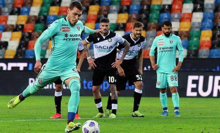 Udinese-Torino 0-1: gol di Belotti su rigore. Spezia-Crotone 3-2