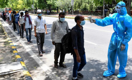 In India 350mila contagi da Covid-19 in 24h, record mondiale.
