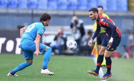 Genoa-Spezia 2-0: Scamacca e Shomurodov, tre punti d'oro