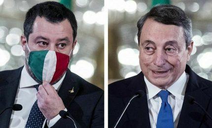 Scontro in Cdm su coprifuoco, Draghi stoppa le 23. La Lega si astiene