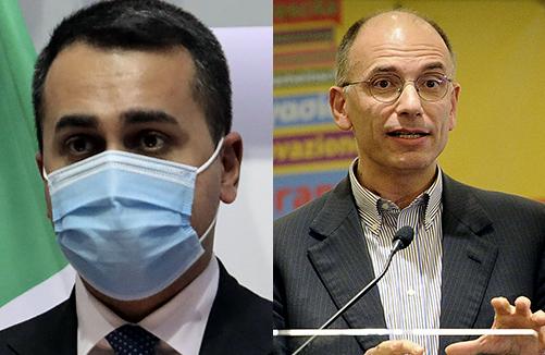 Letta incontra Di Maio, al leader Pd ora mancano Renzi e Salvini