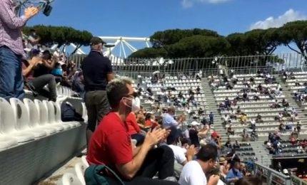Cori e applausi: al Foro Italico torna il pubblico