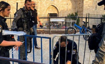 Polizia israeliana spara proiettili di caucciù contro palestinesi