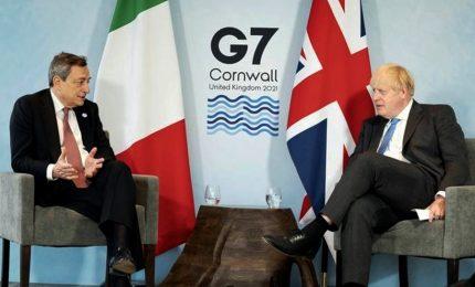 Draghi al G7: politiche espansive e attenzione a coesione sociale