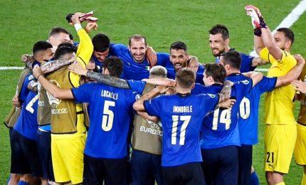Italia-Svizzera 3-0, con Locatelli e Immobile azzurri agli ottavi