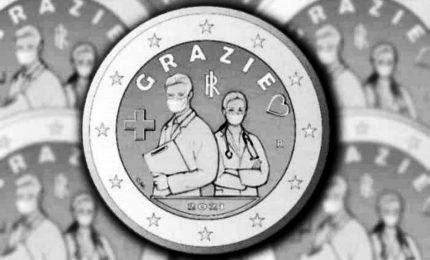 Covid, la Zecca conia moneta dedicata a professioni sanitarie
