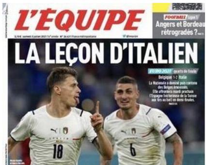 """La stampa estera esalta l'Italia: """"Lezioni di italiano"""""""