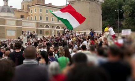 A Roma di nuovo in piazza contro il green pass