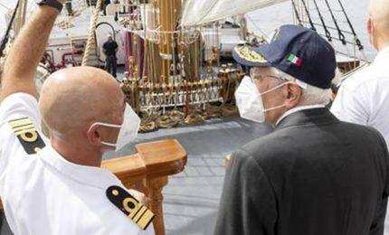 Il Presidente Mattarella visita la Palinuro ad Alghero
