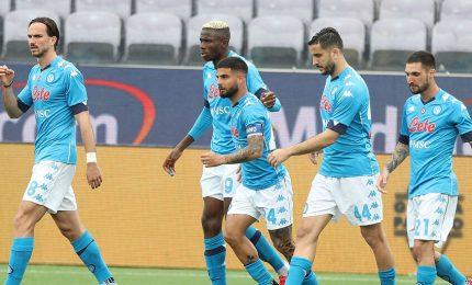 Napoli-Pescara 4-0, a segno Osimhen, Insigne, Ounas e Zedadka