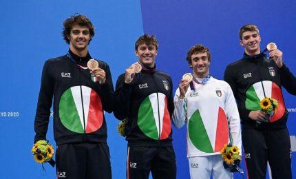 Tokyo2020, nuoto: staffetta 4X100 mista, l'Italia è di bronzo