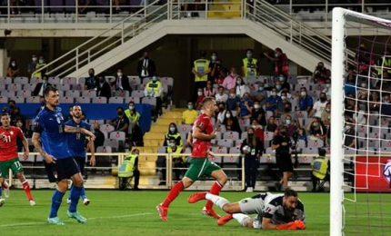 """L'Italia stecca la prima: 1-1 contro la Bulgaria. Mancini: """"Mancata precisione in zona gol"""""""