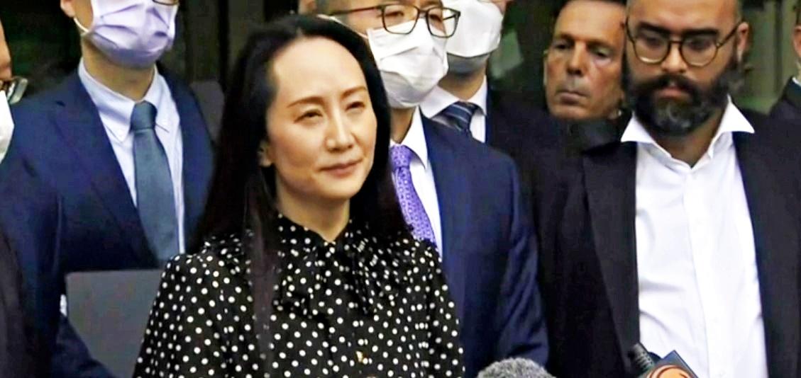 Dopo 3 anni di domiciliari in Canada, figlia fondatore Huawei rientra in Cina