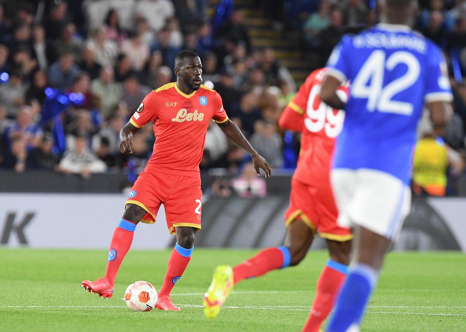 Leicester-Napoli 2-2, doppietta di Osimhen
