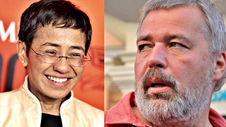 Nobel per la pace 2021 a due giornalisti, Maria Ressa e Dmitry Muratov