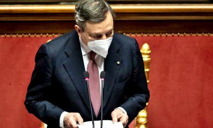 """Draghi interviene al Senato: """"Impegno del governo contro il caro-bolletta"""""""
