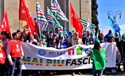 No ai fascismi, sindacati in piazza alla vigilia del voto: sciogliere gruppi, chiudere storia con violenza politica