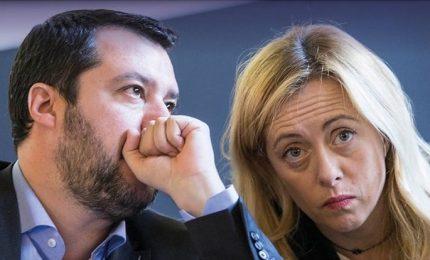Centrodestra distinto e distante, Salvini-Meloni si contendono leadership